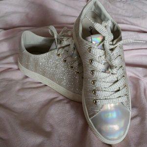 Brand new Qupid Gold Glitter Shoe